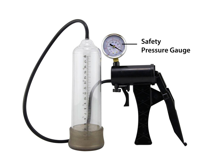 do penis pumps work better with a gauge?